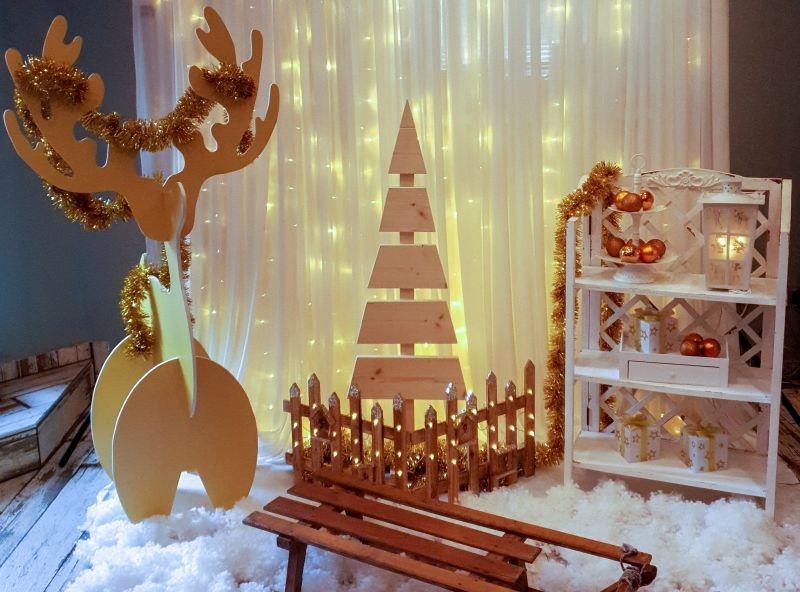 Karácsonyi fotósarok - arany