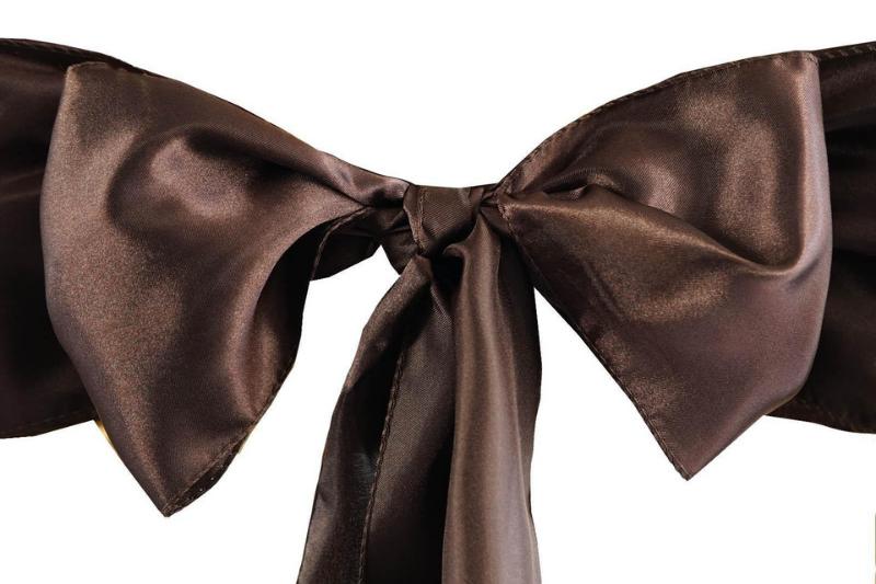Csokoládé színű szatén szalag