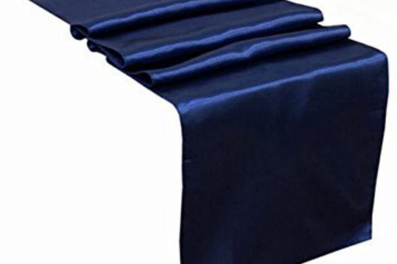Navy blue színű szatén futó