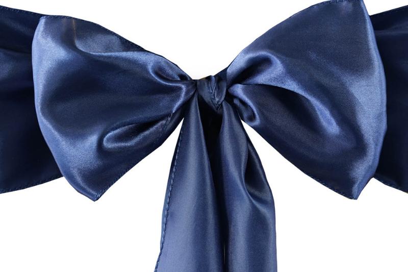 Navy blue színű szatén szalag