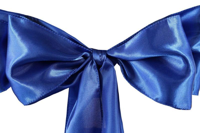 Royal blue színű szatén szalag