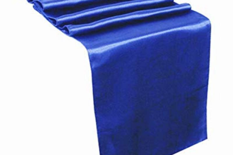 Royal blue színű szatén futó